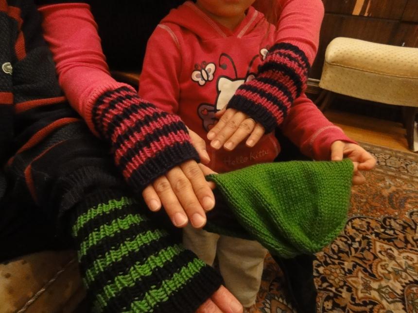 Striped Handwarmers 2