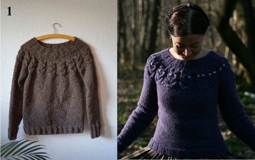 Image on the right taken from the original pattern page on Ravelry, http://www.ravelry.com/patterns/library/owls-2.
